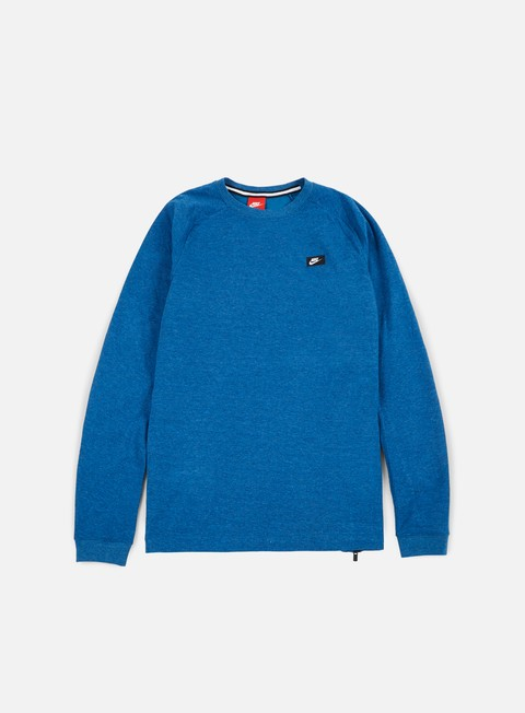 felpe nike modern lite crewneck industrial blue heather