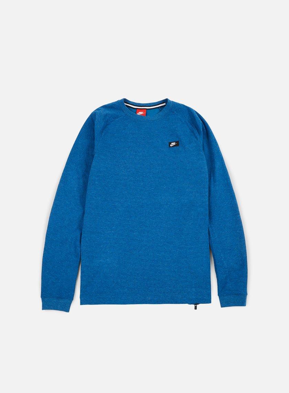 Nike - Modern Lite Crewneck, Industrial Blue/Heather