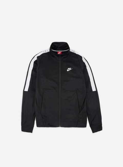 felpe nike n98 tribute jacket black white