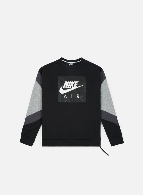 felpe nike nsw air crewneck black anthracite