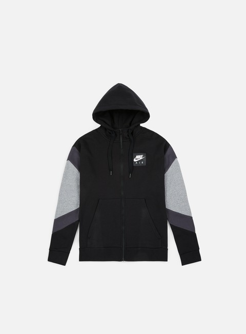 felpe nike nsw air hoodie black anthracite