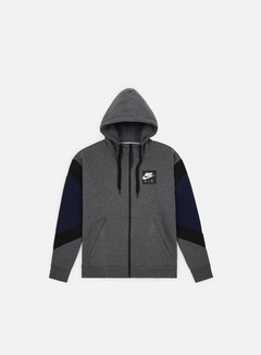 Nike - NSW Air Hoodie, Charcoal Heather/Black/Obsidian