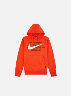 Nike - NSW BB Swoosh Hoodie, Team Orange/White
