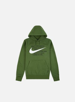 Nike - NSW BB Swoosh Hoodie, Treeline/White