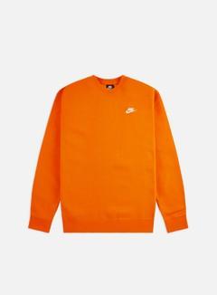 Nike - NSW Club Crewneck, Magma Orange/White