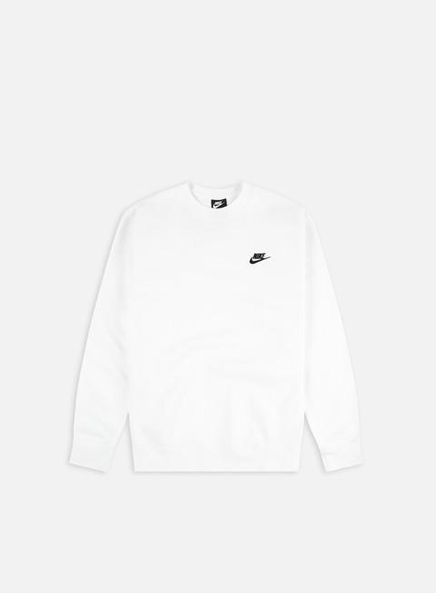 Nike NSW Club Crewneck, White Black