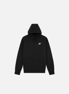Nike - NSW Club Hoodie, Black/Black/White