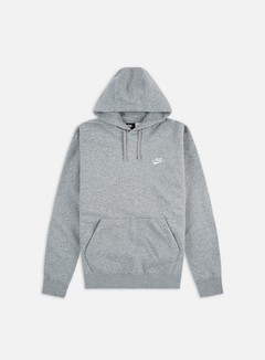 Nike - NSW Club Hoodie, Dark Grey Heather/Matte Silver/White
