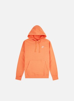 Nike - NSW Club Hoodie, Orange Trance/White