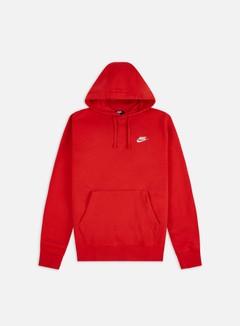 Nike - NSW Club Hoodie, University Red/University Red/White