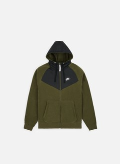 Nike - NSW Core Winter Full Zip Hoodie, Olive Canvas/Black/White