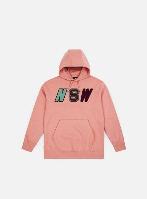 felpe nike nsw fleece hoodie rust pink