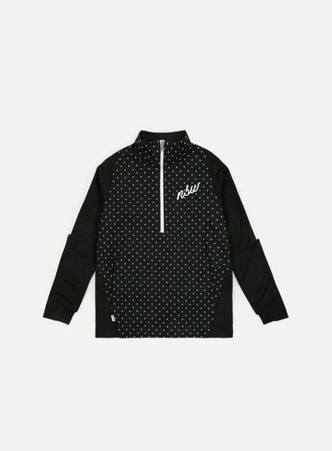 felpe nike nsw half zip track jacket black white white
