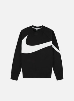 Nike - NSW HBR FT STMT Crewneck, Black/White/Black