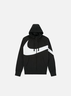 Nike - NSW HBR FT STMT Full Zip Hoodie, Black/Black
