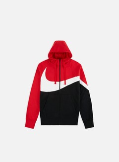 Nike - NSW HBR FT STMT Full Zip Hoodie, University Red/White/Black