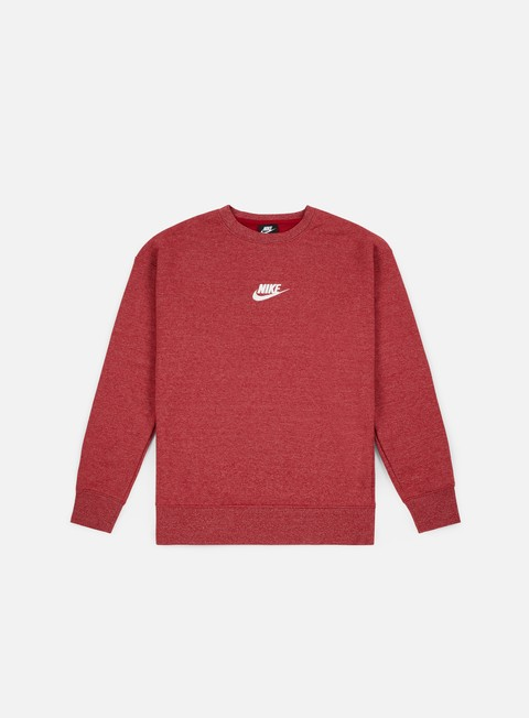 felpe nike nsw heritage crewneck red crush sail