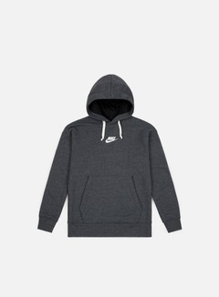 Nike - NSW Heritage Pullover Hoodie, Black/Heather/Sail