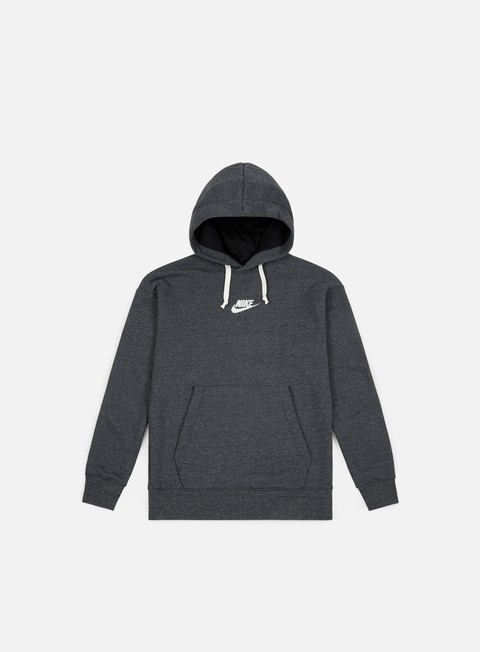 felpe nike nsw heritage pullover hoodie black heather sail