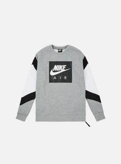 Nike - NSW Nike Air Fleece Crewneck, Dark Grey Heather/Black