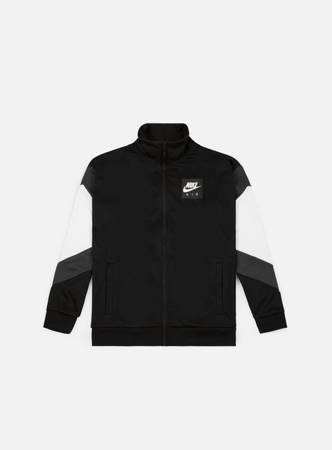 felpe nike nsw nike air jacket black anthracite