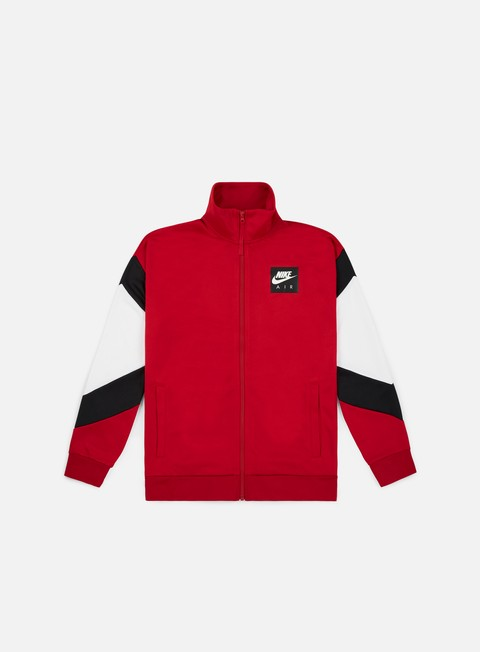 felpe nike nsw nike air jacket gym red black