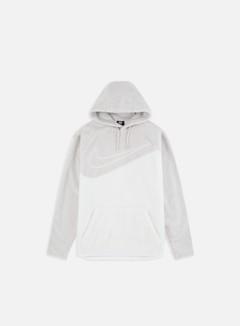 Nike - NSW Sherpa Swoosh Hoodie, Vast Grey/White/White
