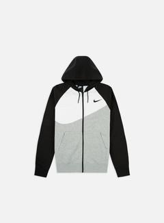 Nike - NSW Swoosh FT Full Zip Hoodie, Dark Grey Heather/Black