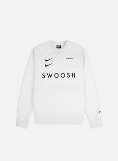 Nike - NSW Swoosh PK Crewneck, White/Black