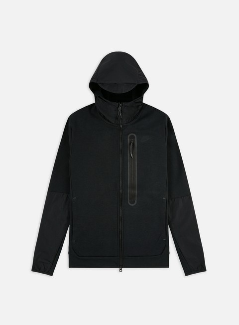 Nike NSW Tech Fleece Woven Mix Full Zip Hoodie