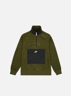 Nike - NSW Top HZ Core Winter Sweater, Olive Canvas/Black