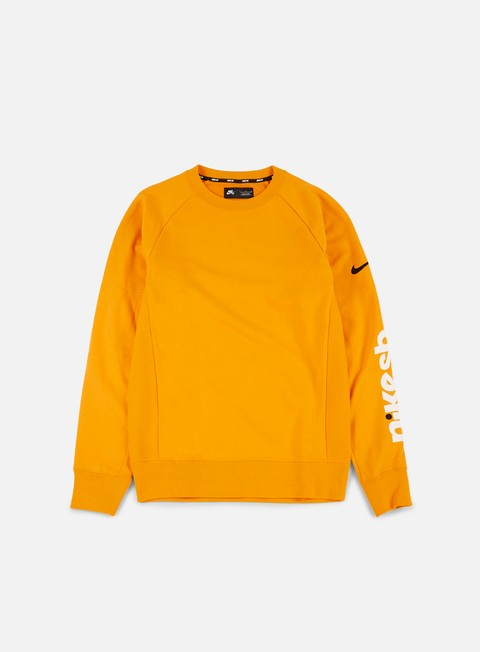 felpe nike sb energy everett crewneck circuit orange black
