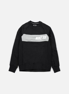 Nike SB - Everett Graphic Crewneck, Black/White 1