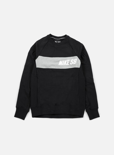 felpe nike sb everett graphic crewneck black white