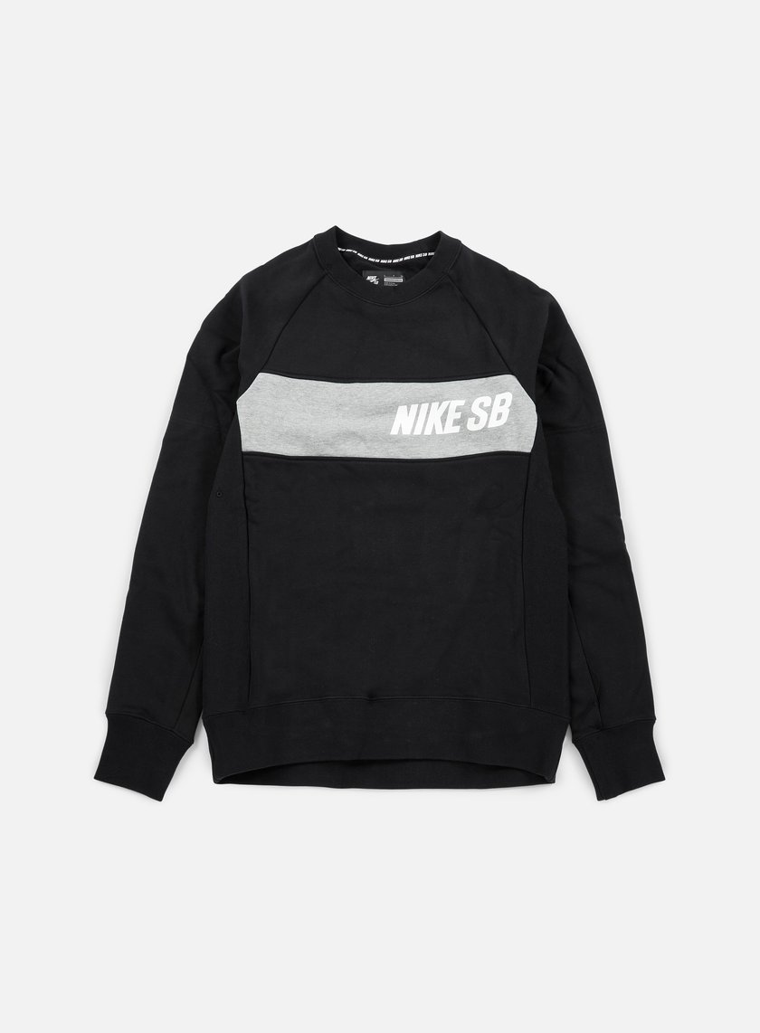 Nike SB - Everett Graphic Crewneck, Black/White