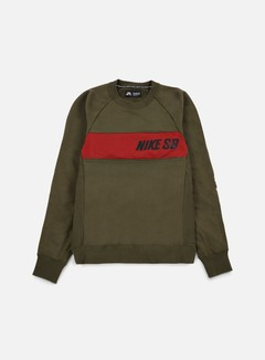 Nike SB - Everett Graphic Crewneck, Cargo Khaki/Black