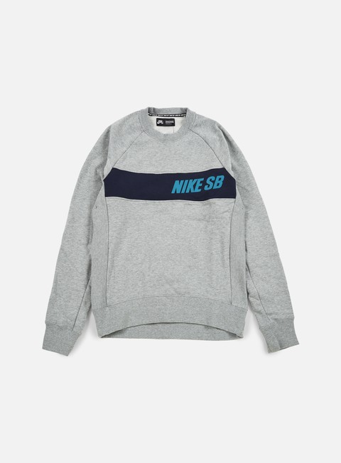 felpe nike sb everett graphic crewneck dark grey heather rio teal