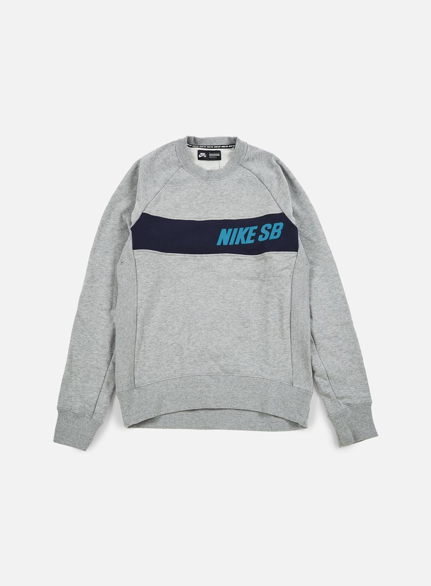 Nike SB - Everett Graphic Crewneck, Dark Grey Heather/Rio Teal