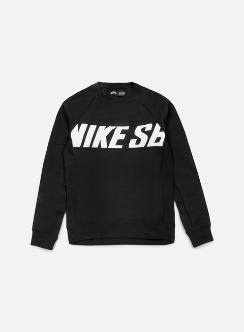 felpe nike sb everett motion crewneck black white