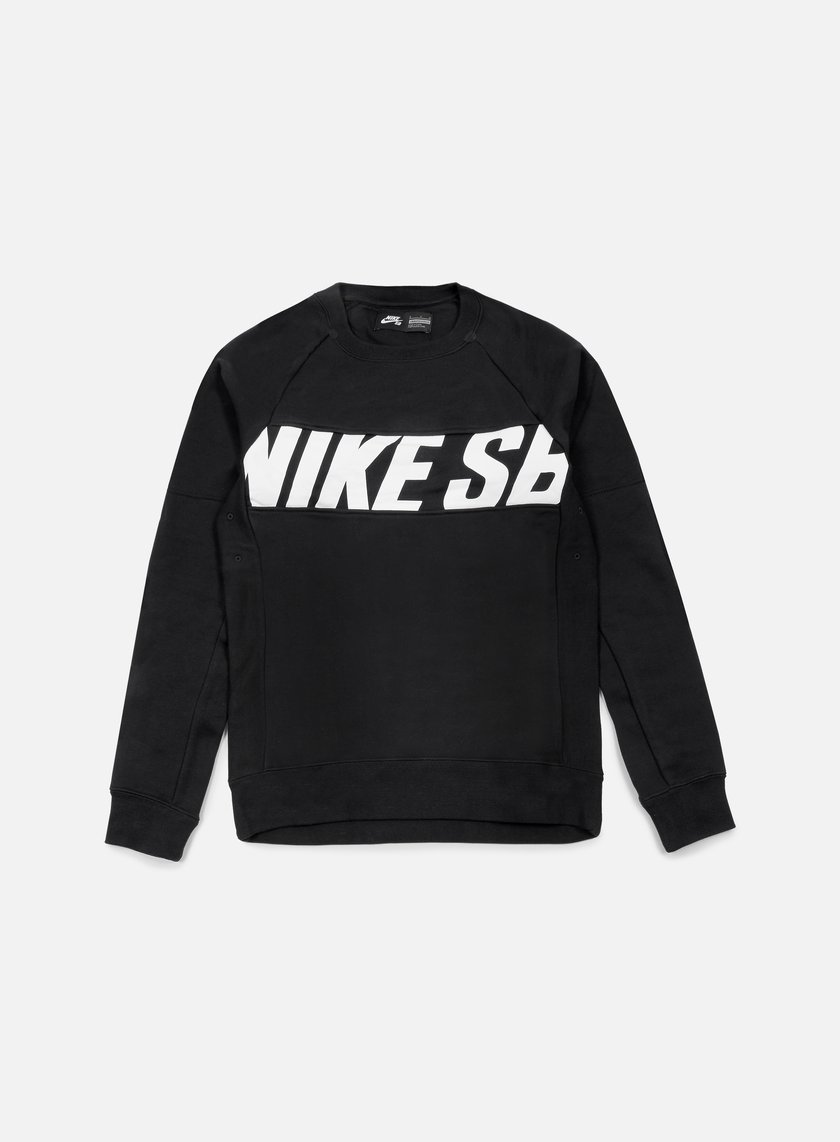 Nike SB - Everett Motion Crewneck, Black/White