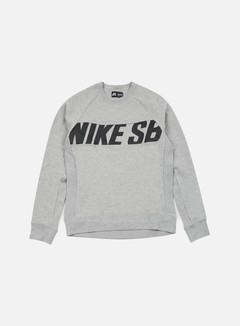 Nike SB - Everett Motion Crewneck, Dark Grey Heather/Black