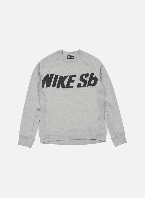 felpe nike sb everett motion crewneck dark grey heather black