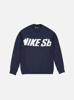 Nike SB - Everett Motion Crewneck, Obsidian/White