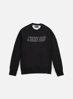 Nike SB - Everett Reveal Crewneck, Black/White 1