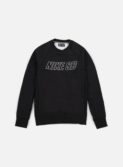 felpe nike sb everett reveal crewneck black white