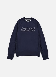 Nike SB - Everett Reveal Crewneck, Obsidian/White 1