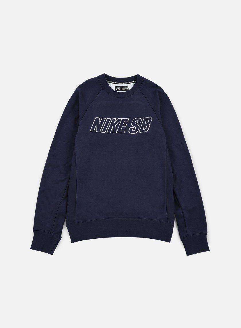 Nike SB - Everett Reveal Crewneck, Obsidian/White