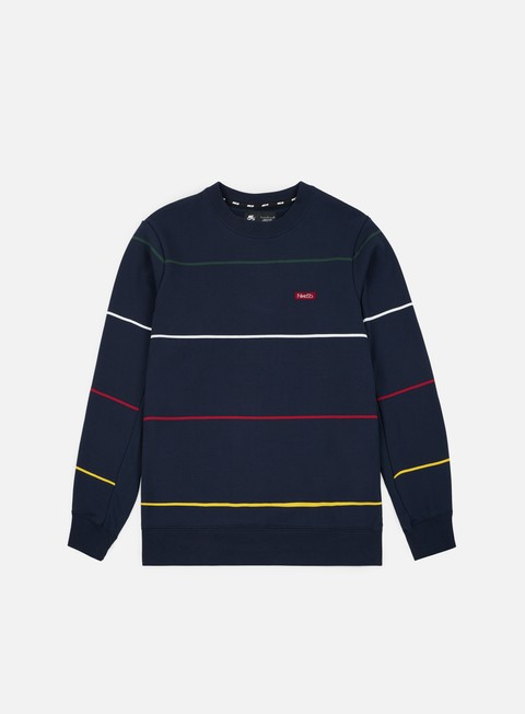 felpe nike sb everett stripe crewneck obsidian red crush