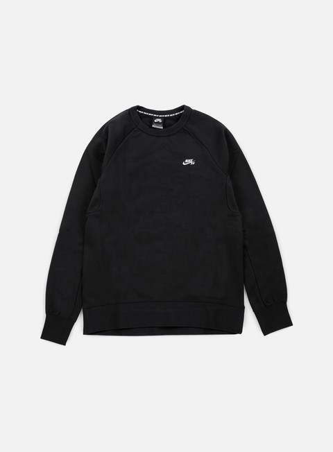 felpe nike sb icon crewneck black white