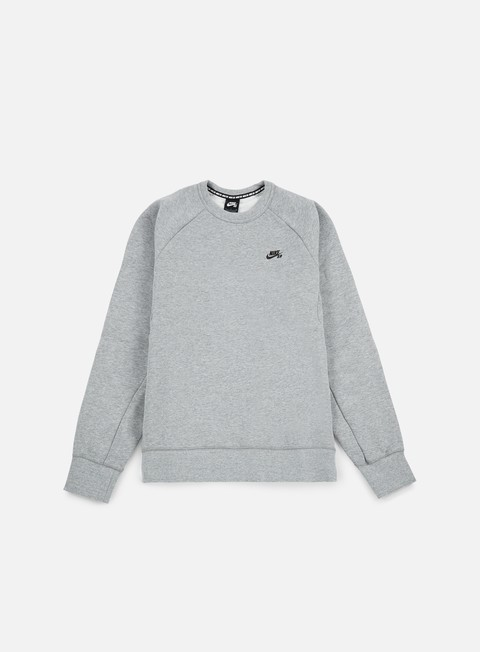 felpe nike sb icon crewneck dark grey heather black